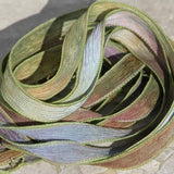 Fairy Whispers Hand Dyed Silk Ribbons, JamnGlass Ribbons