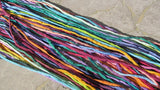 JAZZ Silk Cords Assortment, Silk Cording Hand Dyed Hand Sewn Strings 2mm to 3mm Thick, Bulk Wholesale Qty 10 to 50 Jewelry Making Craft Cord