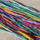 Jazz Silk Cords Assortment, Hand Dyed Hand Sewn, Jewelry Making Cord