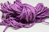 Grape Silk Cords 3 to 4mm x 3 Yards Lilac Purple Cording Bubblegum Grape, Bridal Bouquet Trim Jewelry Making Embroidery Hand Dyed Hand Sewn