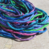 Silk Cords, Hand Dyed Hand Sewn, Silk Cording, Stringing Supplies