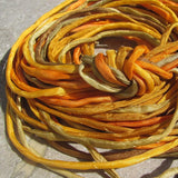 Marigold Assortment Silk Cords, Yellow and Gold Silk Cording Mix