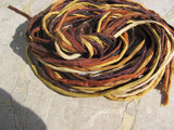 BROWNIES Silk Cords, Brown Strings, 2-3mm, Bulk Qty 10 to 50, Silk Wrap Bracelets, Hand Dyed Hand Sewn