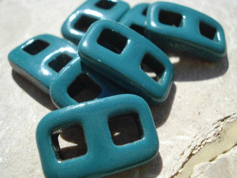 Teal Green Clasps Qty 1 All-One-Piece Instant Clasp Buckle Toggle Button