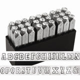 "VARSITY Impressart Metal Stamping Kit, Metal Stamp Set Uppercase Alphabet 6 mm Team Sports Lettering Outline Stamps 1/4"", Show School Spirit"