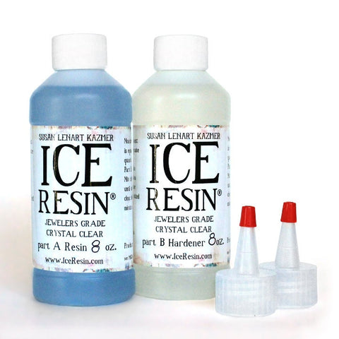ICE RESIN, 16 oz Refill Kit, Resin and Hardener, Jewelers Grade Self Doming Clear Epoxy Resin No UV Lamp needed
