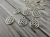 CELTIC KNOT Charms, Antique Silver, Tierracast, Irish Tiny Celtic Charms, Tierra Cast
