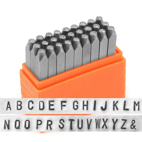 "BASIC Alphabet Uppercase, ImpressArt Economy Stamping Kit, 2.5mm, Sans Serif Metal Stamp Set Tool 3/32"" - LakiKaiSupply"