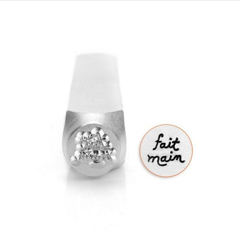 FAIT MAIN Metal Stamp ImpressArt 6mm, French Hand Made Stamp, Handmade Design, Tool for Hand Stamped Jewelry, Steel Stamp