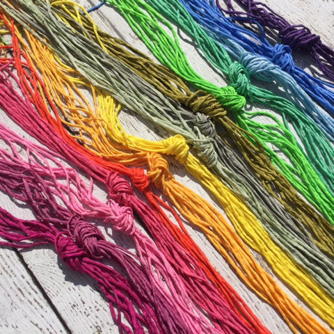 Silk Cords, CHOOSE Your COLOR, 2mm to 3mm Qty 1 to 20 Pick One Color Hand Dyed Bulk Strings Assorted Rainbow or Neutral Colors Silk, Cording