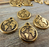 Earth Charms, TierraCast Antique Gold 20.5mm Charms