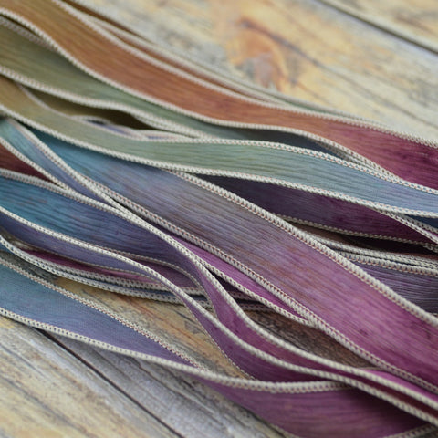 Early Harvest Silk Ribbons, Crinkle Silk Strings, Bulk Wholesale Ribbon