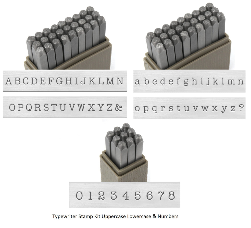 ImpressArt TypeWriter Metal stamp set!