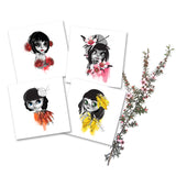 Native Flowers Card Sets