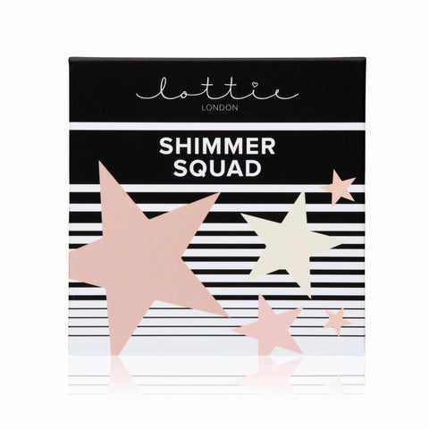 SHIMMER SQUAD - POWDER HIGHLIGHTER QUAD - Lottie London Australia