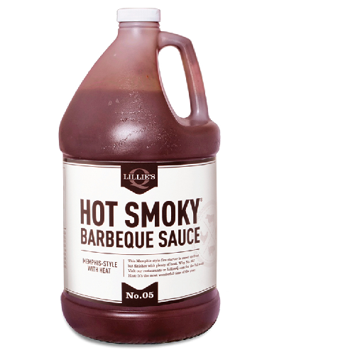 Lillie's Q Hot Smoky Barbeque Sauce 3.8L