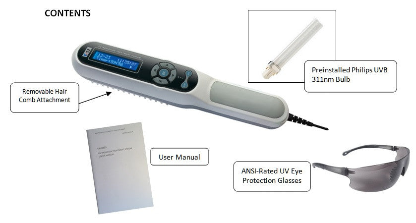 Psoriasis UVB Phototherapy Lamp with LCD Timer – uvb-phototherapy.com