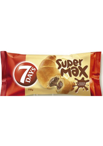 7 Days - Super Max croissant with cocoa filling 110g Best before:26/11/20