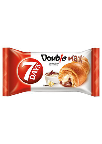 7 Days - Double Max croissant with vanilla & cocoa filling 80g best before:
