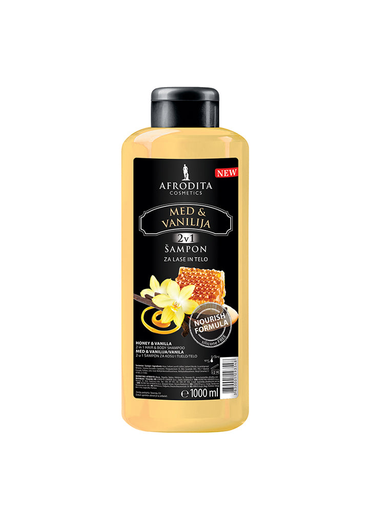 Afrodita cosmetics - Honey & Vanilla 2in1 Hair & Body shampoo 1L