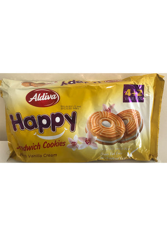 Aldiva - Happy sandwich cookies with vanilla cream 408g