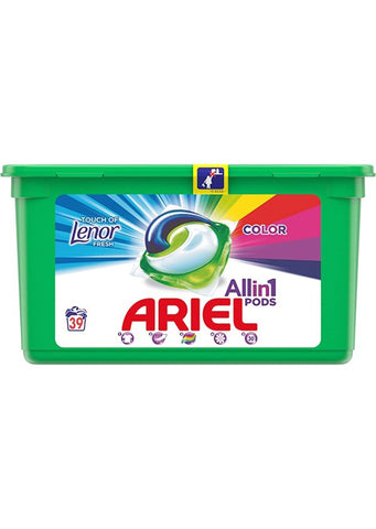 Ariel - All in 1 pods Detergent Color touch of lenor fresh 39 pods / 0.93kg