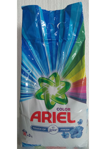 Ariel - Color powder detergent touch of lenor fresh 3kg