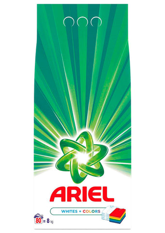 Ariel - Powder detergent Whites+Colors 8kg