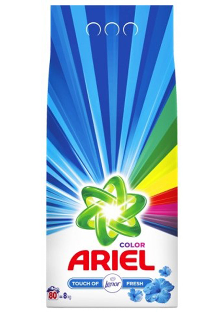 Ariel - Powder detergent Color / Touch of lenor 8kg