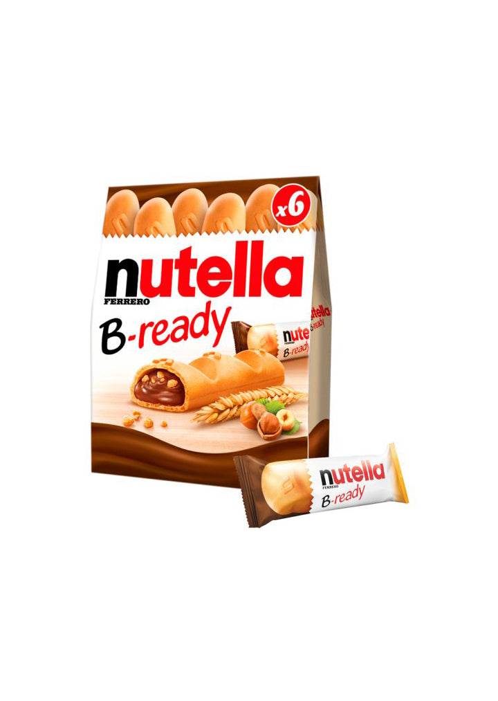 Nutella B-Ready 132g best before:10/06/21