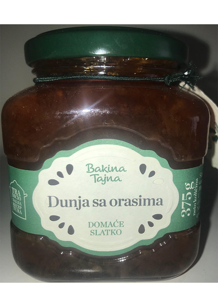 Bakina Tajna - Whole fruit preserve - Quince with walnuts 375g