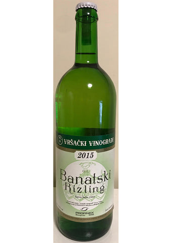 Banatski Rizling - Dry white wine 12% vol. Alcohol 1L