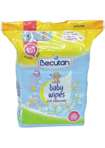 Becutan - Baby wipes with chamomile economy pack 4in1 (288 baby wipes)