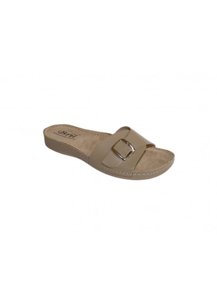 Bril - Womens Summer Slippers Beige No.41