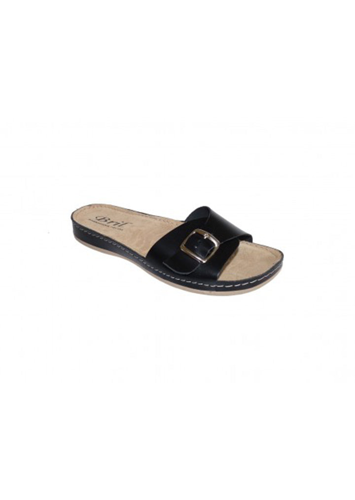Bril - Womens Summer Slippers Black No.40