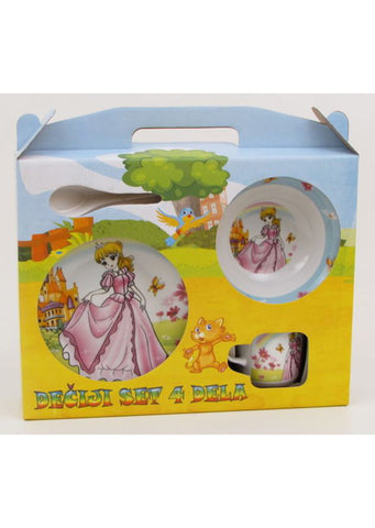 """Barbie"" dish set for kids 4pcs"