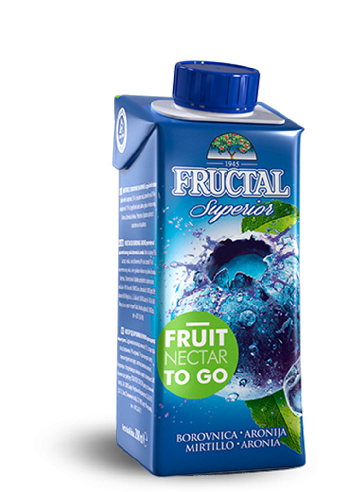 Fructal - Superior blueberry & aronia juice 200ml
