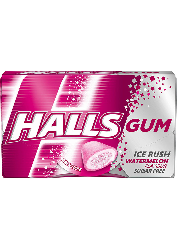 Halls - Gum Ice rush Watermelon flavour 18g