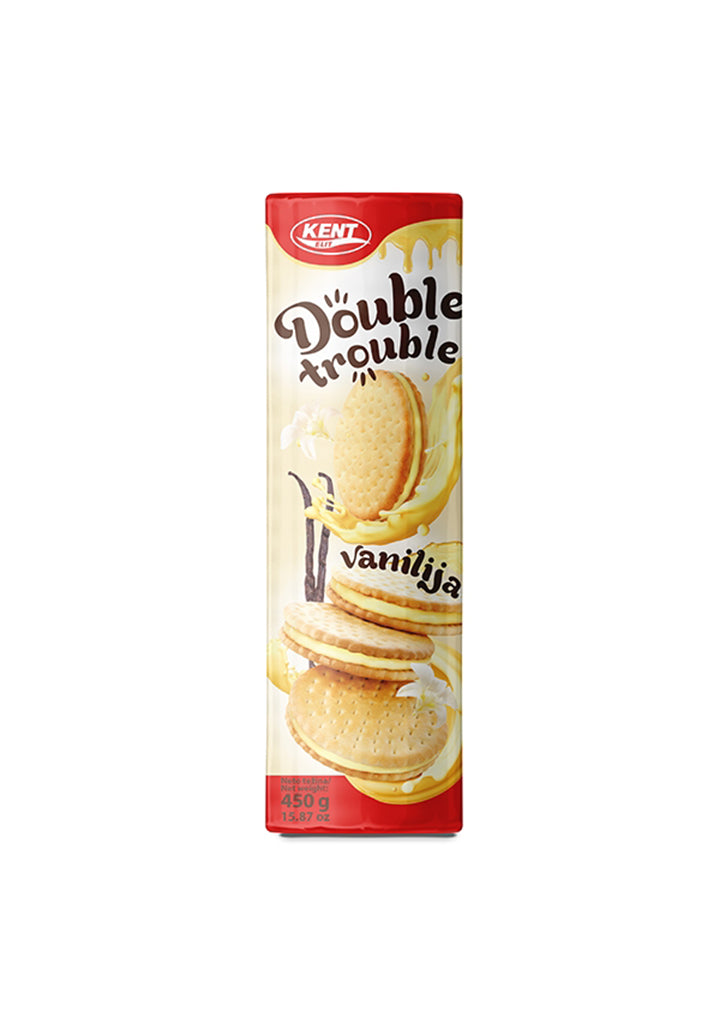 Kent - Double trouble tea biscuit filled with vanilla cream 450g