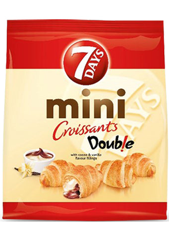 7 Days - Mini Double croissants with cocoa & vanilla filling 185g Best before:27/11/20