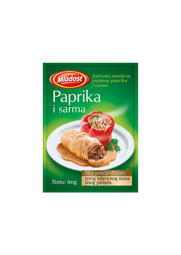 Mladost - Seasoning mix for stuffed pepper 60g
