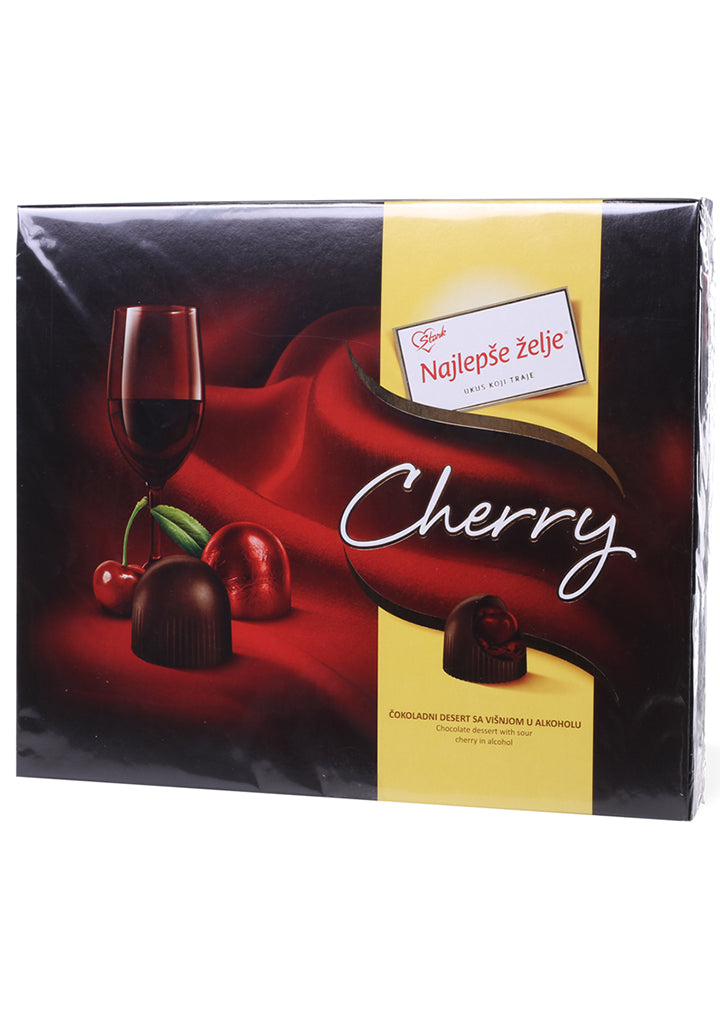 Najlepse zelje - Chocolate dessert with sour cherry in alcohol 204g