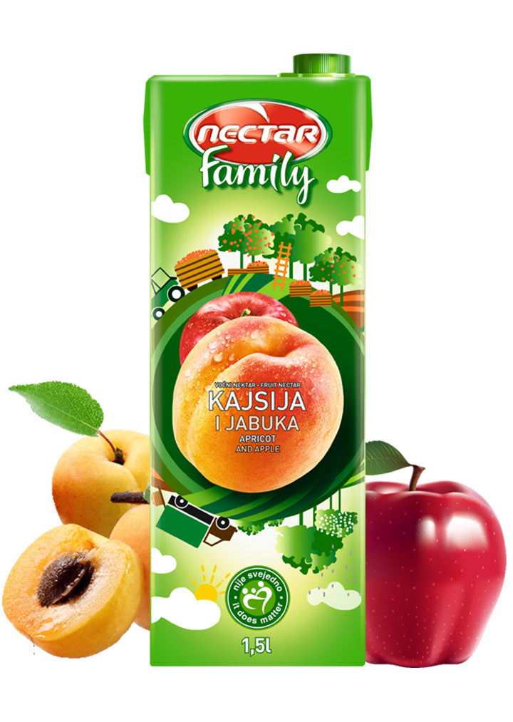 Nectar - Family apricot and apple juice 1,5L