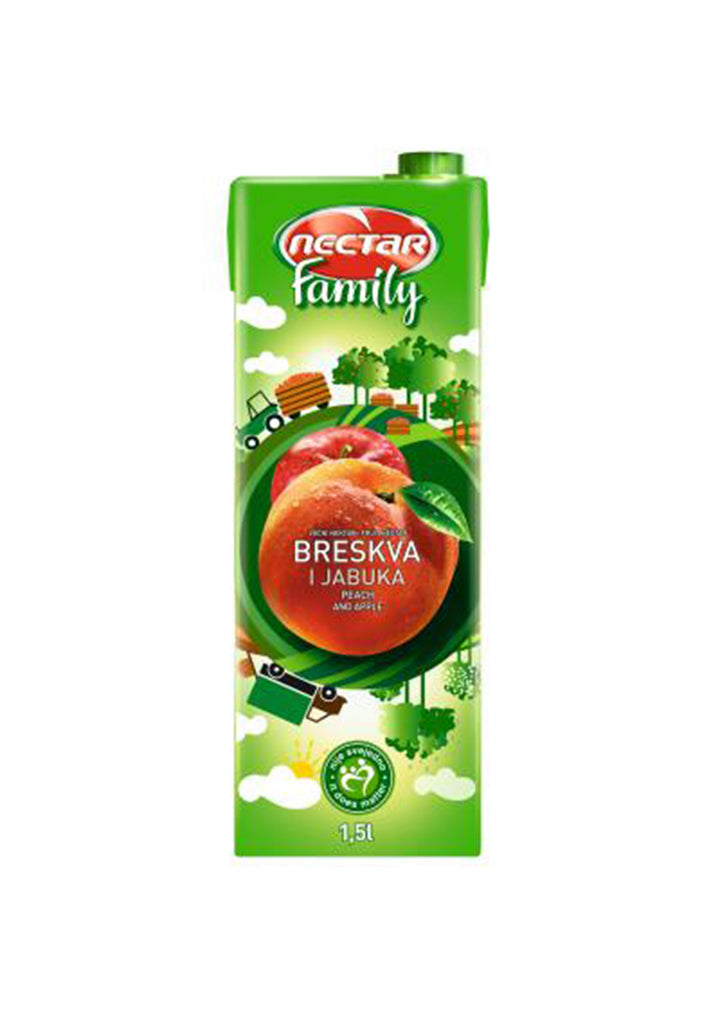 Nectar - Family peach and apple juice 1,5L