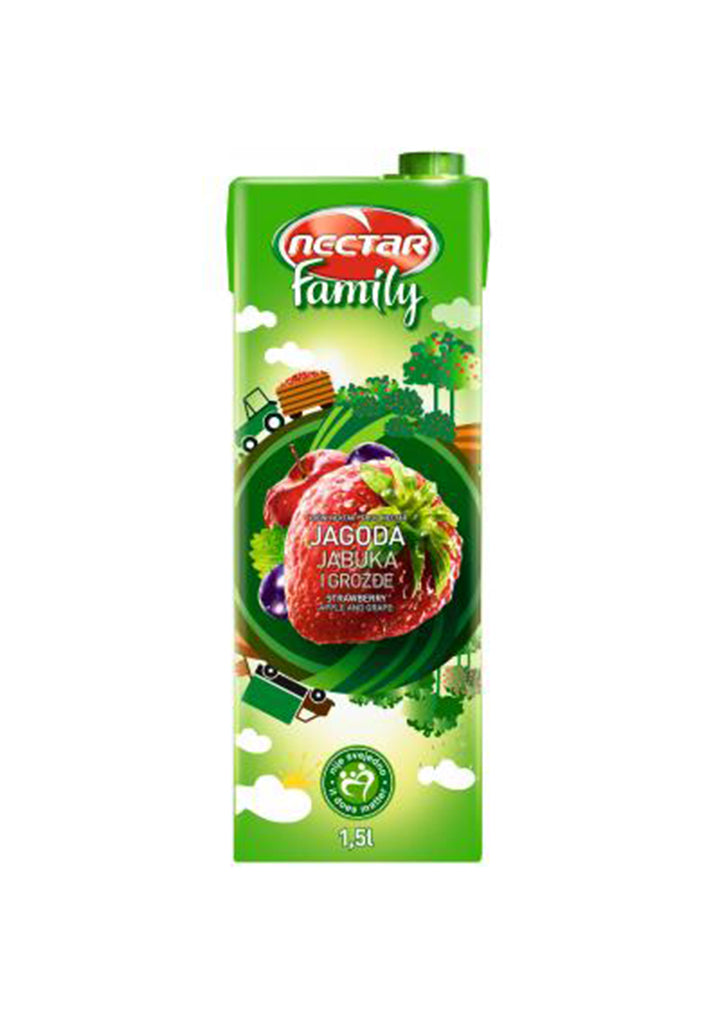 Nectar - Family strawberry  juice 1,5L