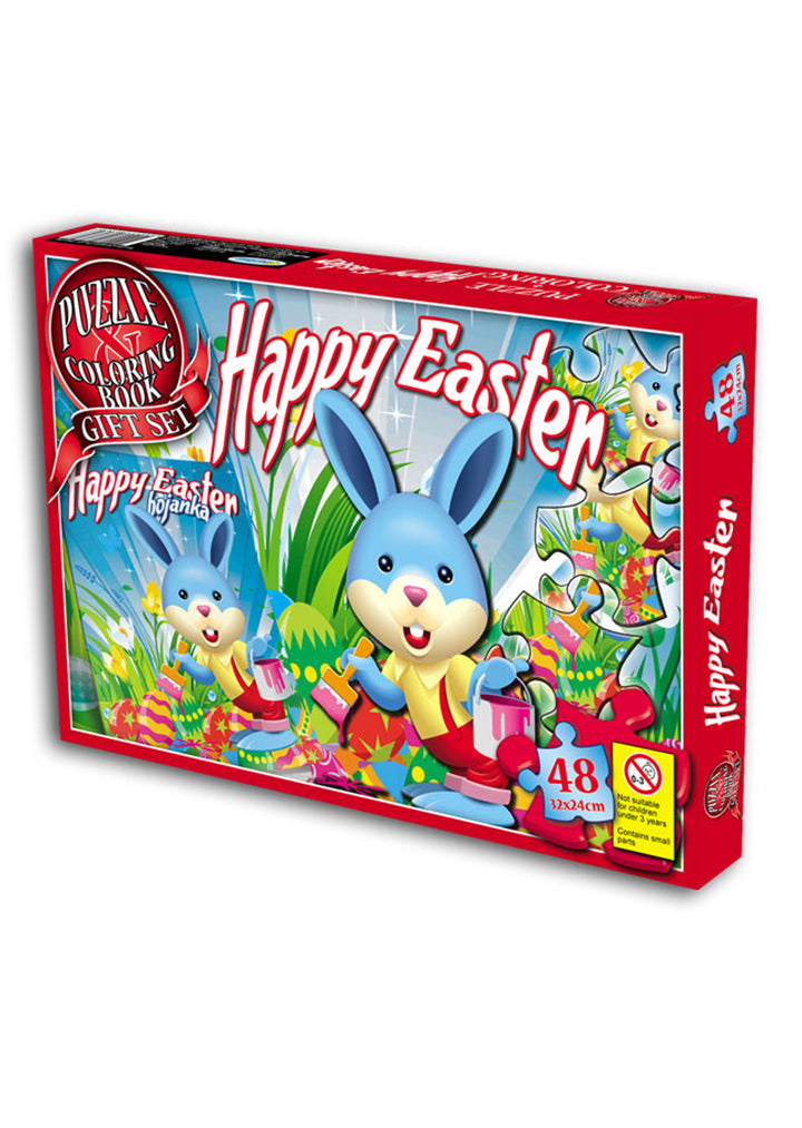 Easter - Puzzle coloring book gift set