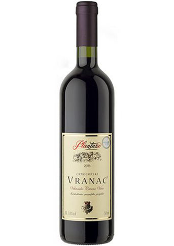 Plantaze -  Vranac red wine 13.5% vol. Alcohol 750ml