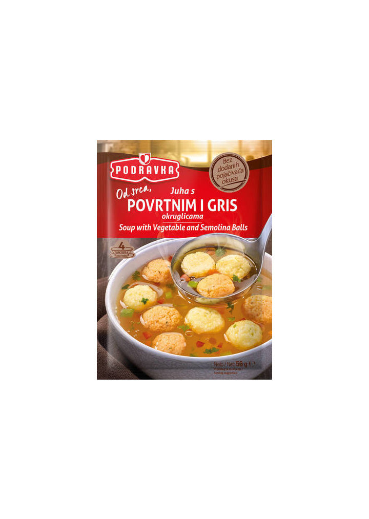 Podravka - Soup with vegetable and semolina balls 56g