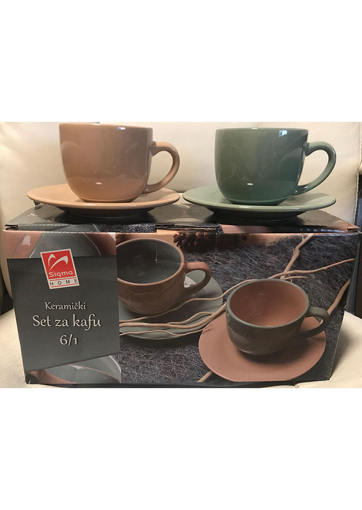 Sigma - Ceramic coffee set 6/1 pcs