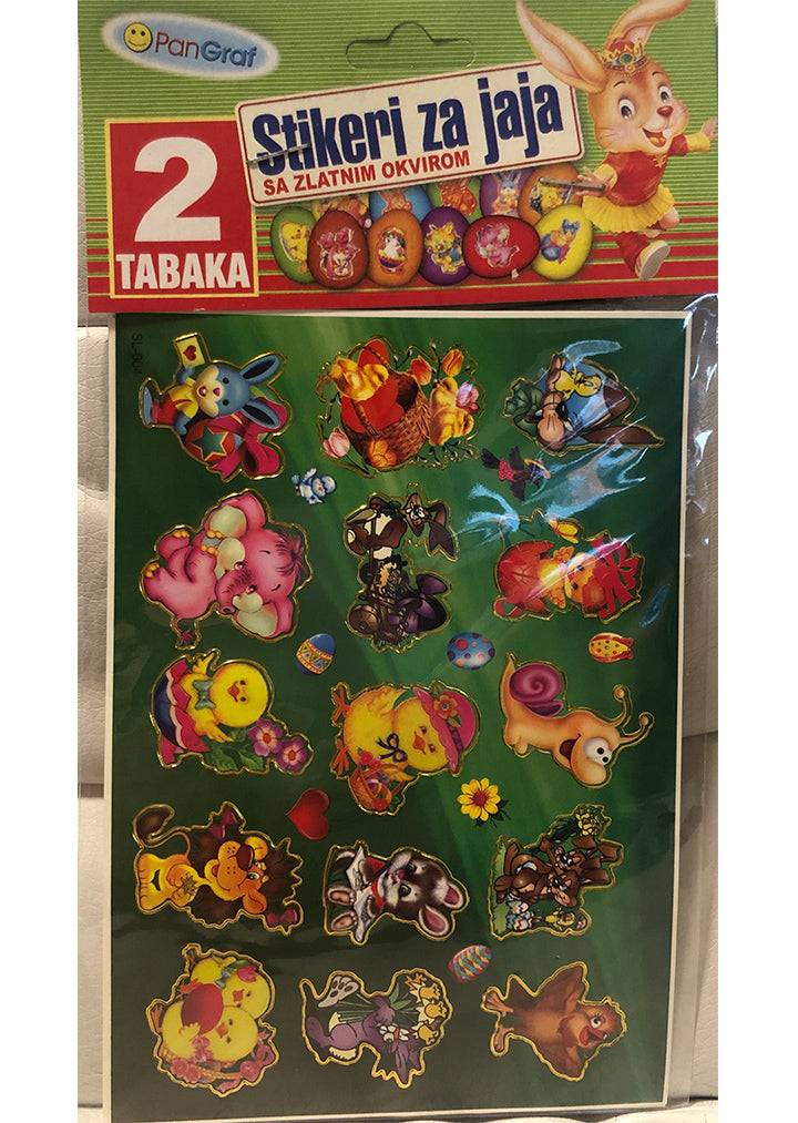 Easter - Stickers with golden frame 30
